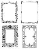 Set of Four vintage photo frames. A Set of four illustrated vintage and antique photo frames. Great for photoshop brushes Royalty Free Stock Image