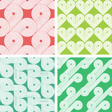 Set of four vintage seamless patterns Stock Photography