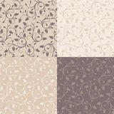 Set of four vintage seamless patterns with rose bu Royalty Free Stock Image