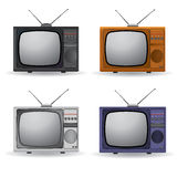 Set of four vintage TV Royalty Free Stock Photo
