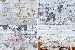 Set of four wall backgrounds Stock Images