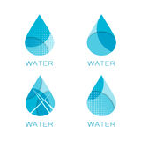 Set of four waterdrop templates Stock Images