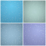Set of four winter background Stock Photo