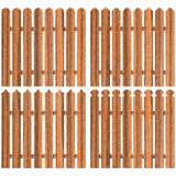 Set of four wooden fences Royalty Free Stock Photography