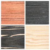Set of four wooden texture backgrounds Stock Images