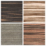 Set of four wooden texture backgrounds Royalty Free Stock Image