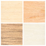 Set of four wooden texture backgrounds Stock Photography