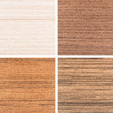 Set of four wooden texture backgrounds Stock Photo