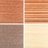 Set of four wooden texture backgrounds Royalty Free Stock Photo