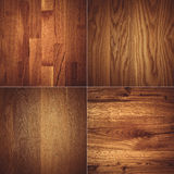 Set of four wooden textures background patterns Stock Images