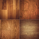 Set of four wooden textures background patterns Royalty Free Stock Image