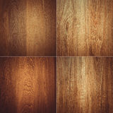 Set of four wooden textures background patterns Stock Image