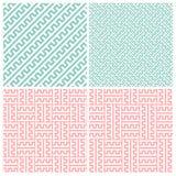 Set of four zipper patterns Stock Photo