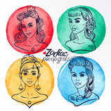 Set of four zodiac signs 2 Royalty Free Stock Photography