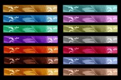 Set of fourteen banners Royalty Free Stock Images