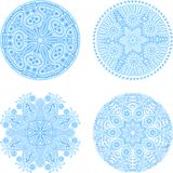 Set of fout lace ornaments Royalty Free Stock Images