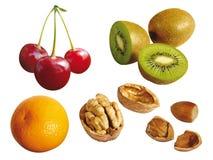 Set Früchte Lizenzfreies Stockfoto