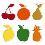Set Früchte Lizenzfreie Stockbilder