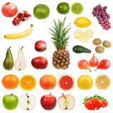 Set Früchte Stockbilder