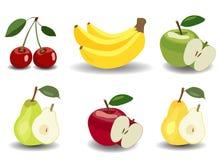 Set Früchte und Beeren Stockbilder