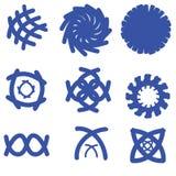 set för 2 logo Arkivbild
