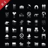 set för 4 symbol Arkivfoton