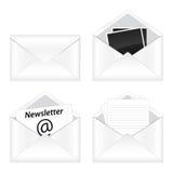 set för e-symbolspost Arkivbild