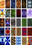 Set of fractal backgrounds Stock Photography