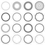 Set fractal and swirl shape element.  Stock Photography