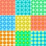 Set fractals i kolorów elementy obracanie Ilustracji