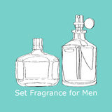 Set Fragrance for Men Stock Image
