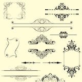 Set frame and decorative element Stock Images