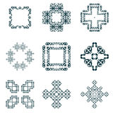 Set frame and decorative element. Royalty Free Stock Images