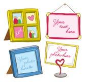 Set of frame doodle Stock Image