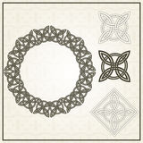 Set of frame and element for design. Celtic motifs. Royalty Free Stock Images