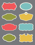 Set of 8 frame or label design elements Stock Images