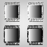 Set Frame of photographic film. Vector illustration Stock Photo