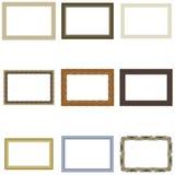 Set frame for pictures or photos. Vector for print or website design stock illustration