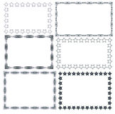 Guilloche Pattern  for Certificate Set frame Stock Photo