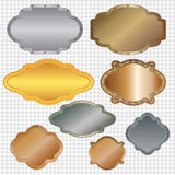 Set of framed labels Royalty Free Stock Photography