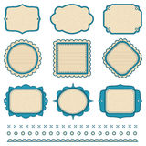 Set of frames. The set of frames and design elements Royalty Free Stock Image