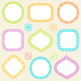 Set of frames. Set of hand drawn frames Royalty Free Stock Images