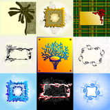 Set of frames. This illustration can be used for your design Royalty Free Stock Photo