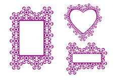 Set of frames. And borders for decoration Royalty Free Stock Image