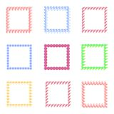 Set of frames for babies. Different toys for children Stock Images