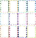 Set of frames and borders with multi-colored ribbons Royalty Free Stock Photos