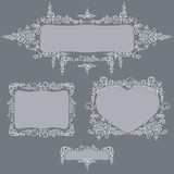 Set frames calligraphy pattern Stock Photography