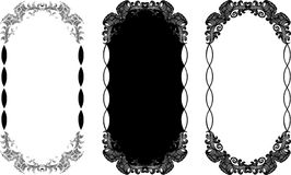 Set of frames Royalty Free Stock Photography