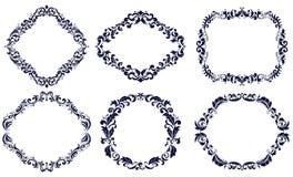 Set of frames decorative Stock Images