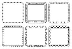 Set of frames - vector decorative squares Royalty Free Stock Images